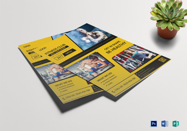 Fitness Club Flyer Template