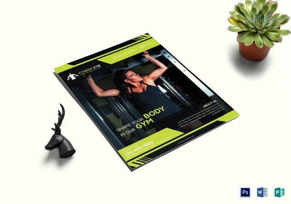 fitness flyer template 600x420