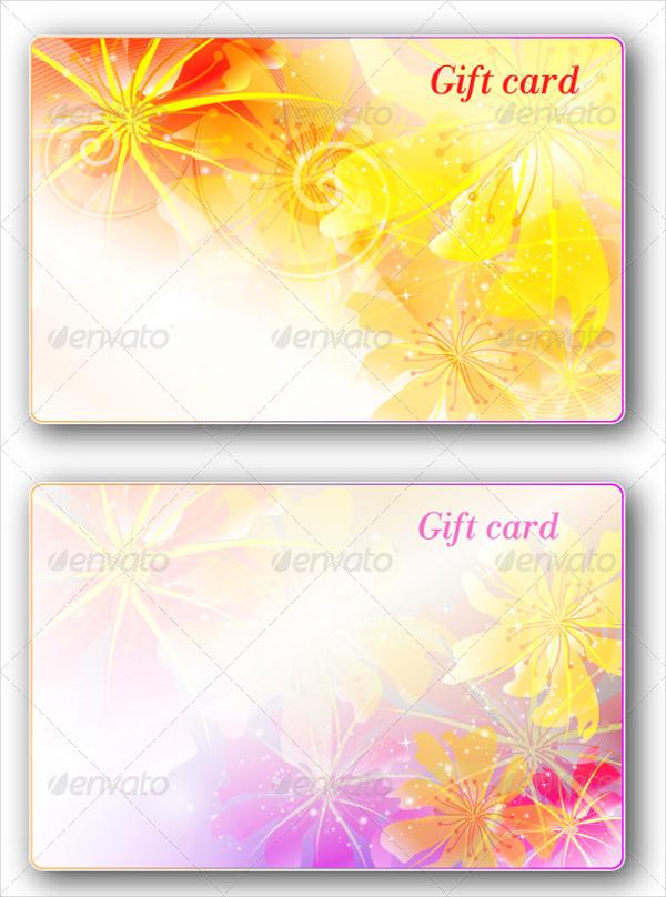 Floral Design Wedding Gift Card