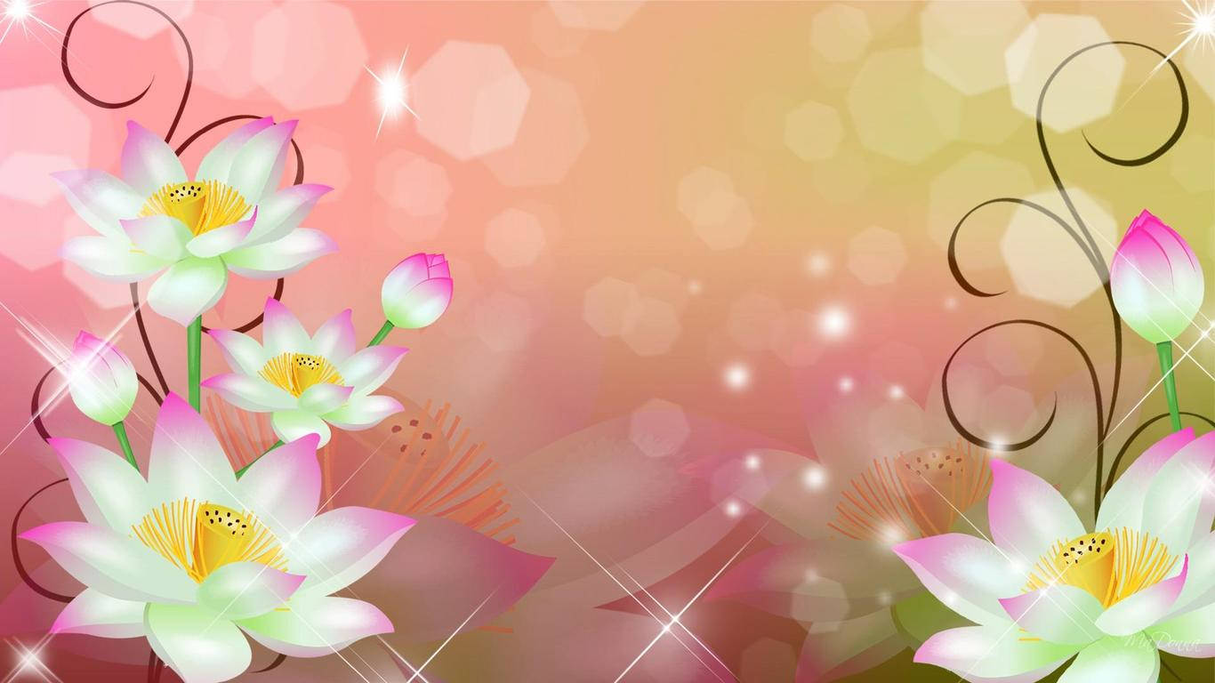 Flower Swirls Bokeh Wallpaper