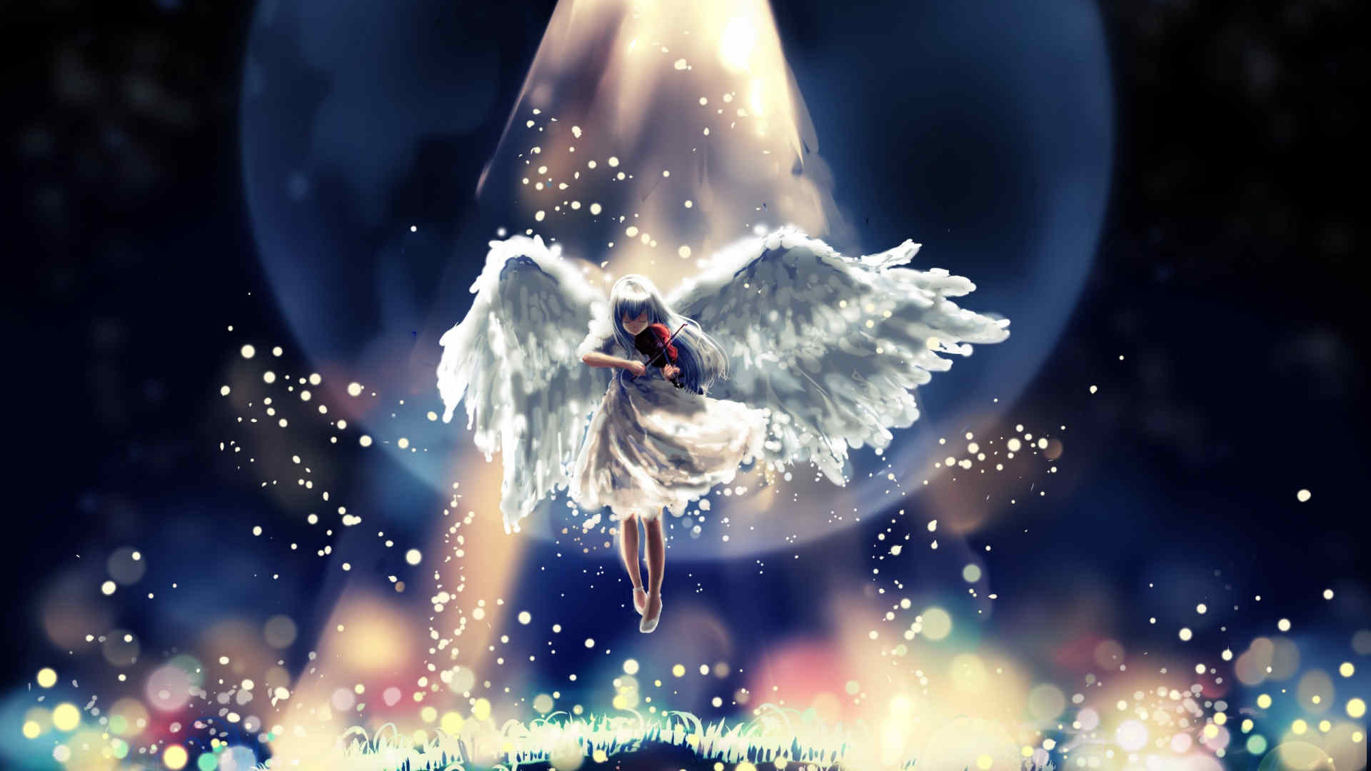 Flying Sky  Angel Wallpaper