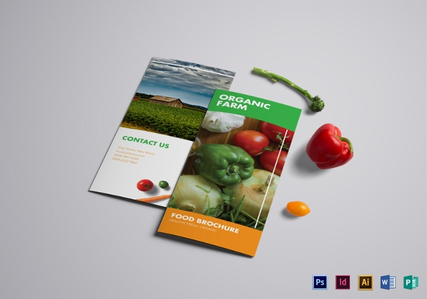 Food Brochure Template PSD