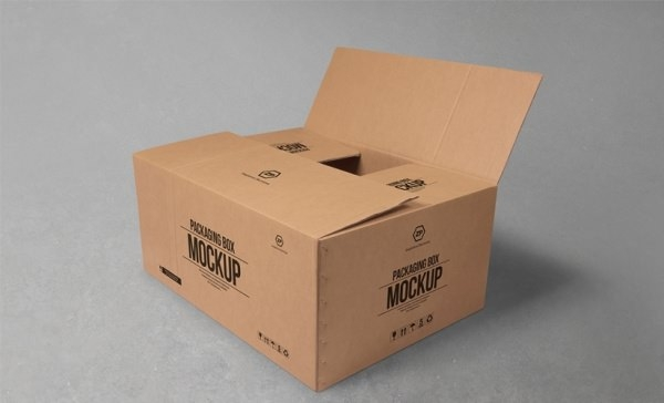 Free Cardboard Box Mockup For Packaging Designs