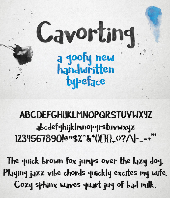 Free Cavorting font