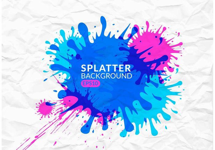Free Colorful Splatter Background
