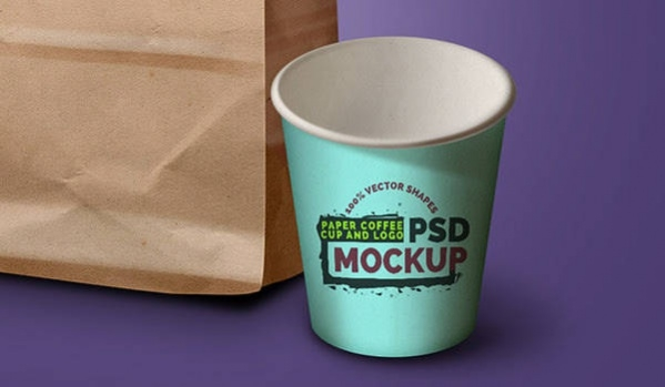 Free Eco-Friendly Grocery Bag & Coffee Cup PSD Mockup