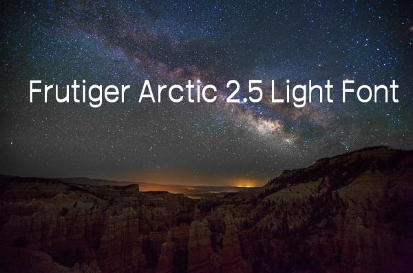 Free Frutiger Arctic 2.5 Light Font