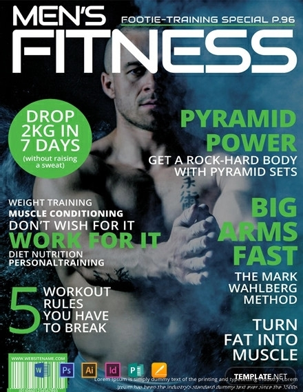 free mens fitness magazine cover template