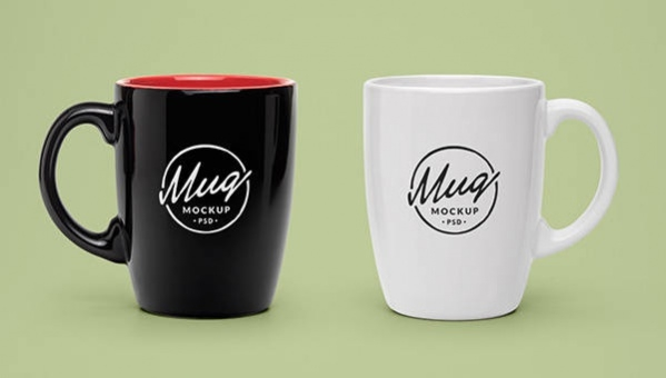 free psd glassware coffee cup mockups