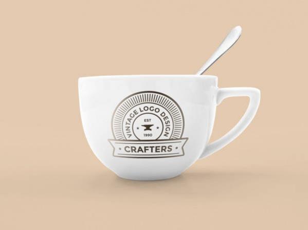 Free PSD Photorealistic Coffee Cup Mockup