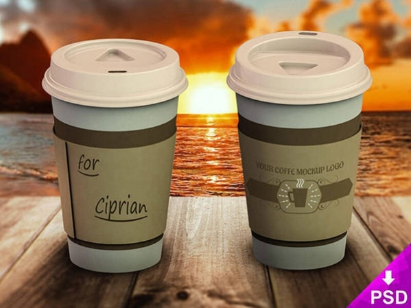Free PSD Photorealistic Coffee Mockup