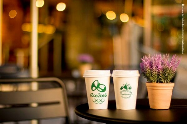 Free Photorealistic Coffee Branding Mockup PSD