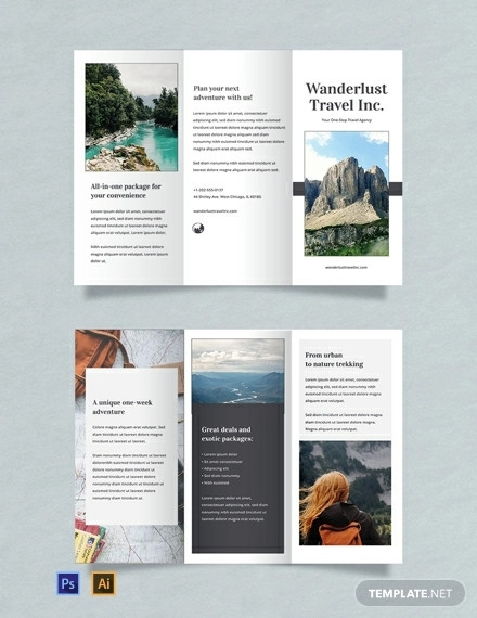 free sample travel brochure template