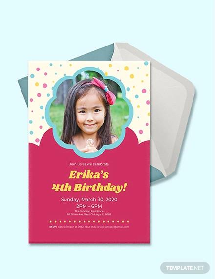 free simple kids birthday invitation