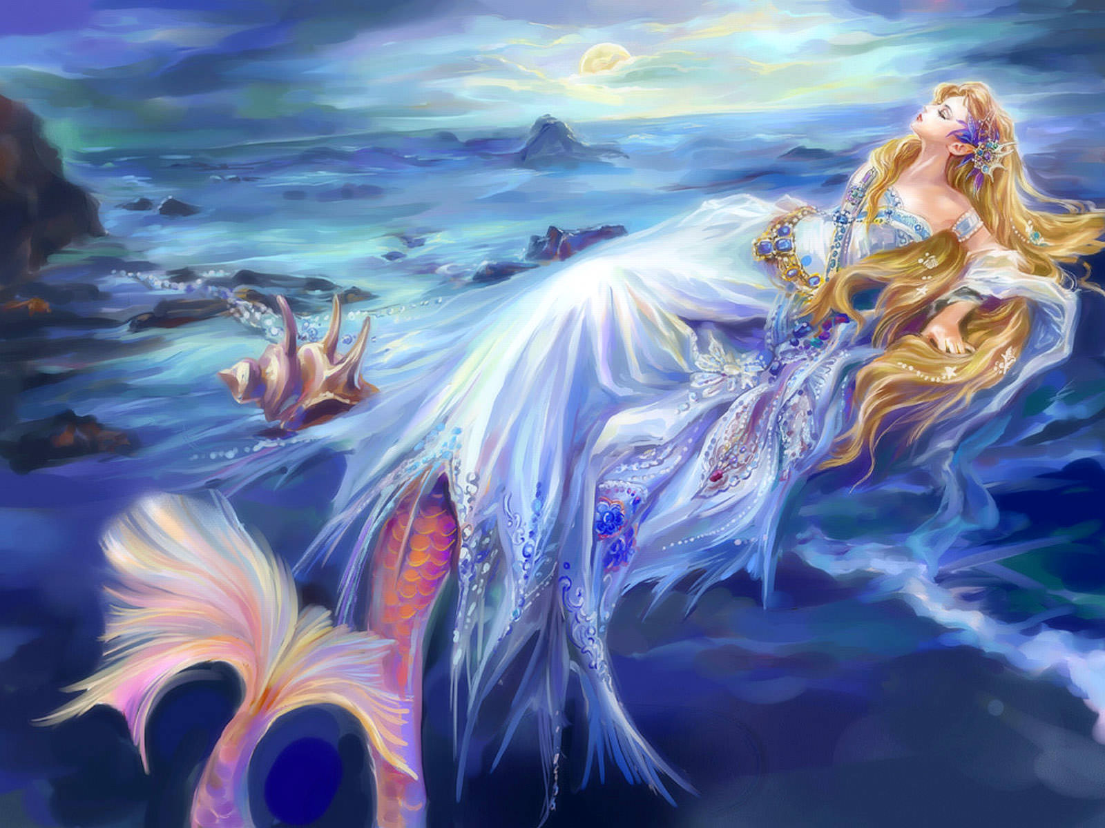 Free Transforming Mermaid Wallpaper