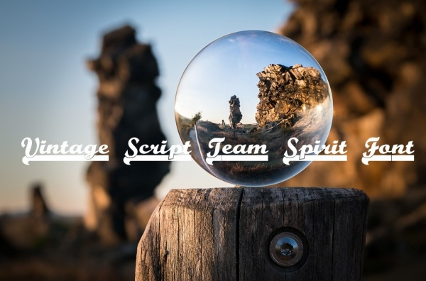 Free Vintage Script Team Spirit Font