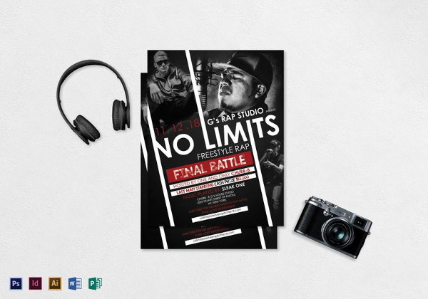 Freestyle Rap Music Flyer Template
