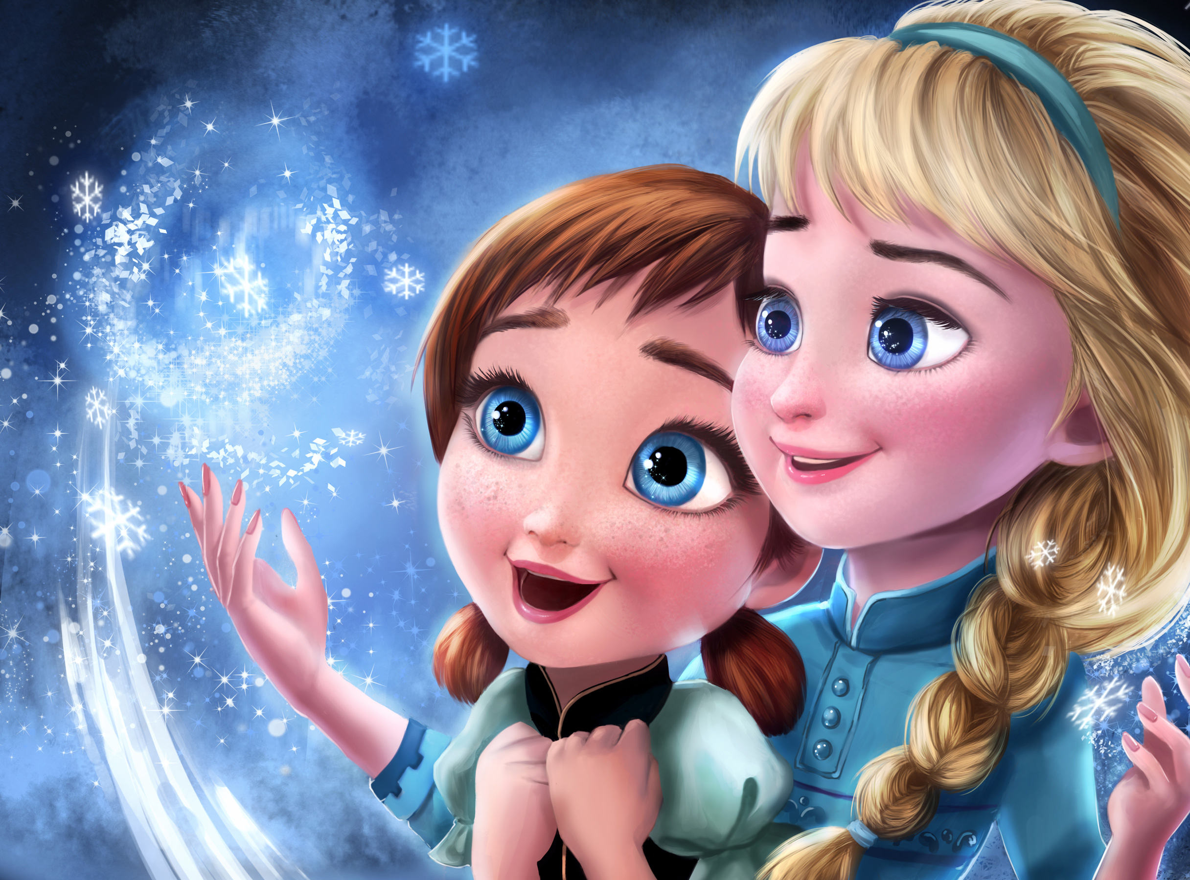 Frozen Elsa Anna Sisters Wallpaper
