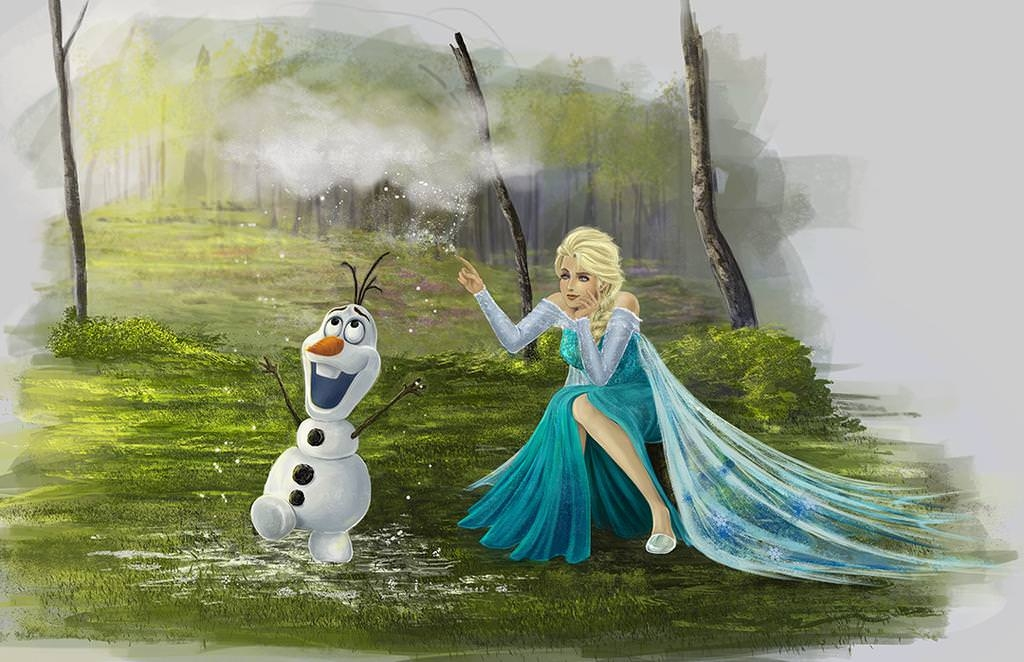 Frozen Olaf Cloud For Me Wallpaper