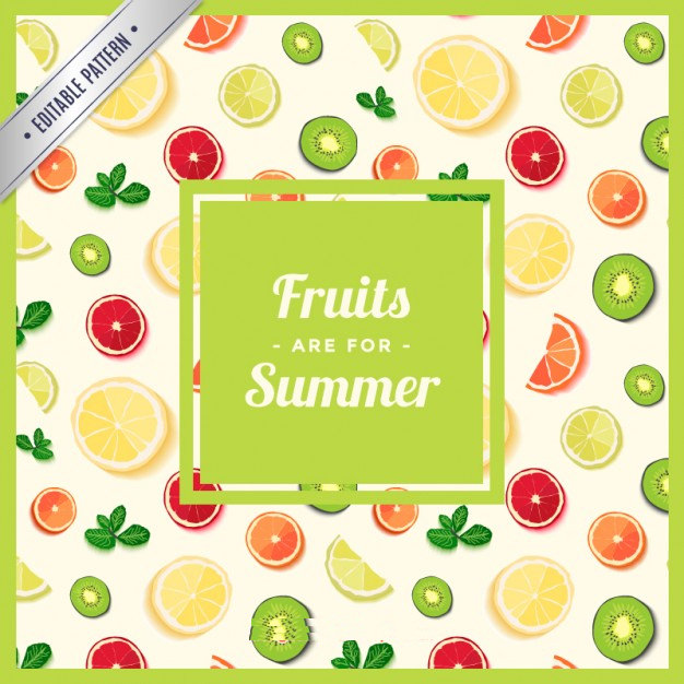 Fruits Pattern Free Vector