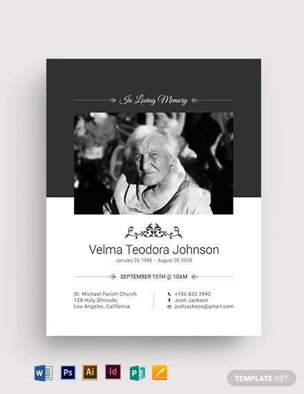 funeral plan flyer template