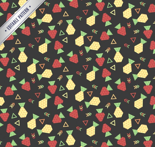 Geometric Fruit Pattern Free Vector