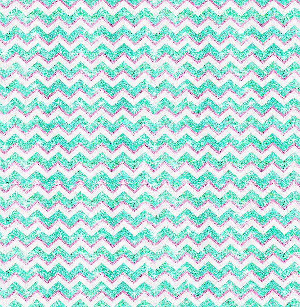Girly Teal Pink Glitter PAttern