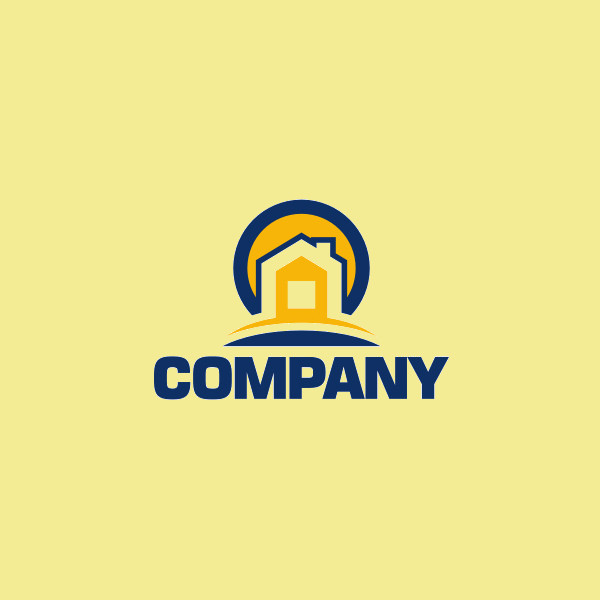 Gold & Blue Building Logo