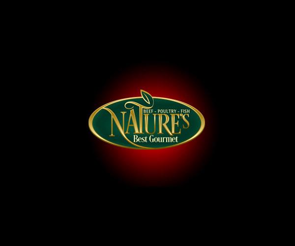 Gold green Leaf Nature Logo