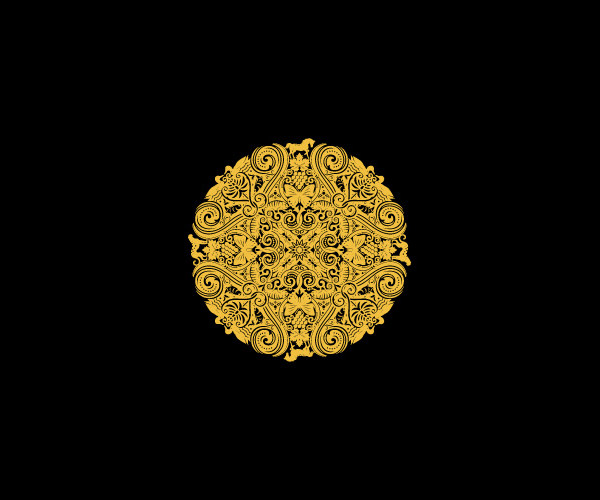 Golden Circle Mandala Logo
