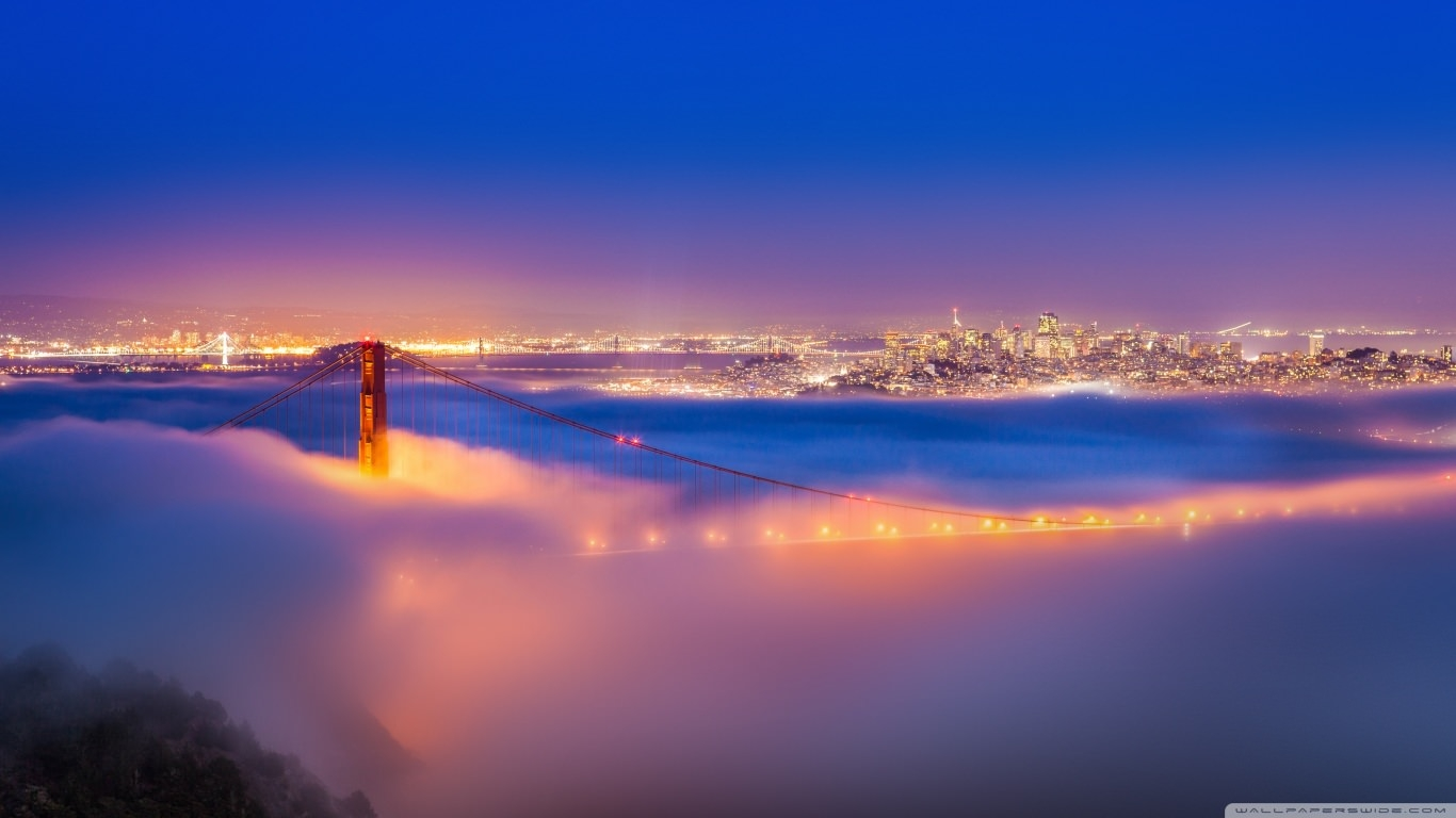 Golden Gate Bridge Fog Wallpaper