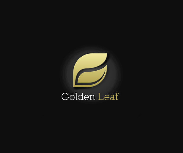 Golden Nature Leaf Logo