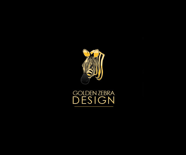 Golden Zebra Logo Design