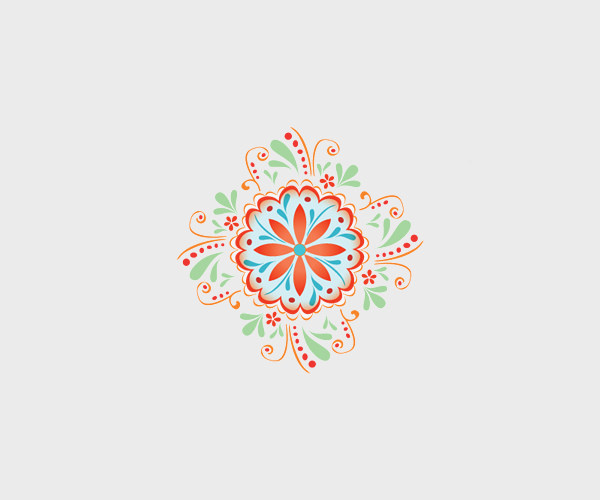 Graphic Design Mandala Logo
