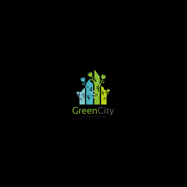 Green Building Decoration Logo