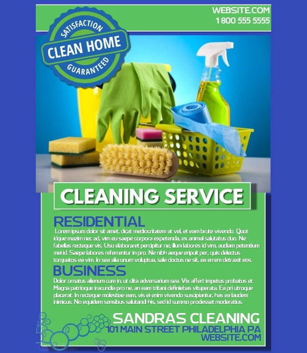 Green Cleaning Service Flyer
