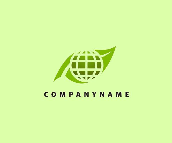 Green Globe Nature Logo