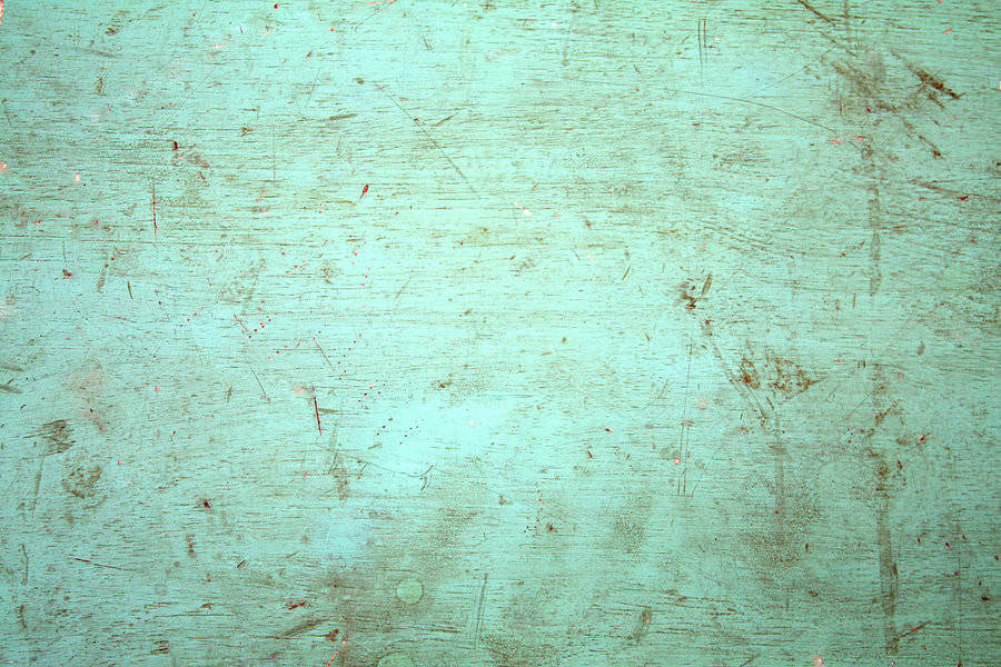 Green Painted Distressed Wallpaper