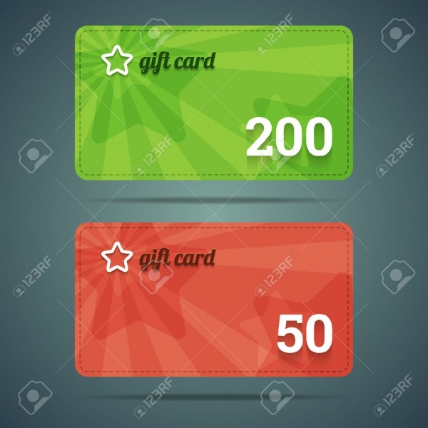 Green & Red Gift Card Template
