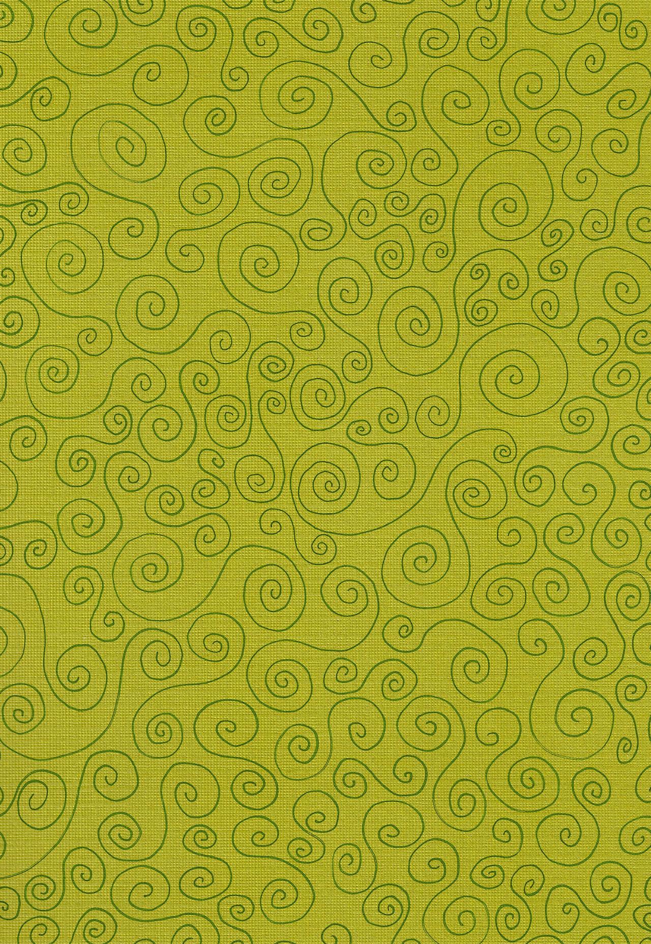 Green Swirls Paper Textured Background