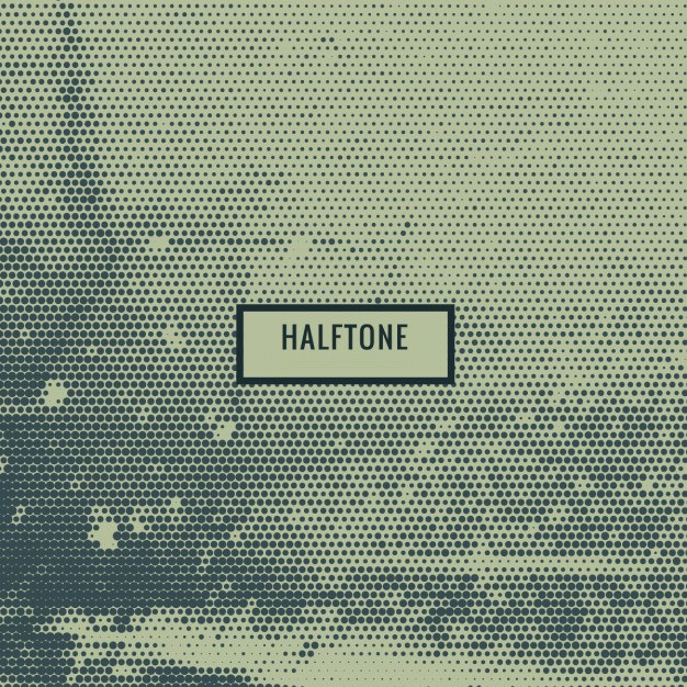 Grunge Halftone Pattern Free Vector