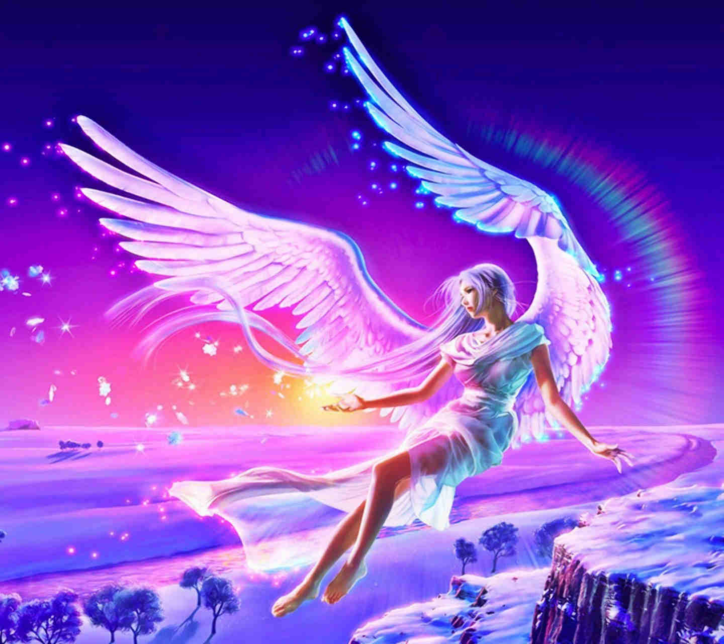 Heavenly Cool Angel Wallpaper