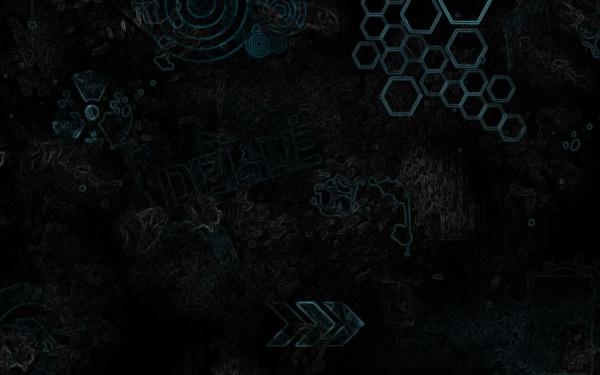 Hexagonal Black Grungy Wallpaper