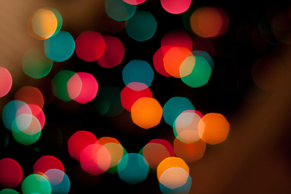 Hexagonal Shaped Bokeh Wallpaper