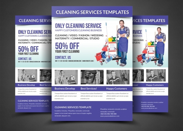 High Quality Cleaning Flyer Design