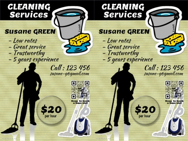 Highly Customizable Cleaning Service Flyer