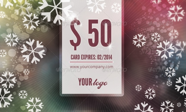 Holiday Gift Card Design