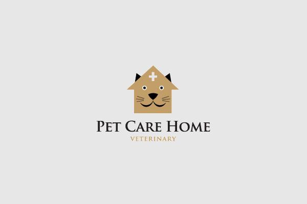 Home Logo For Pet Care