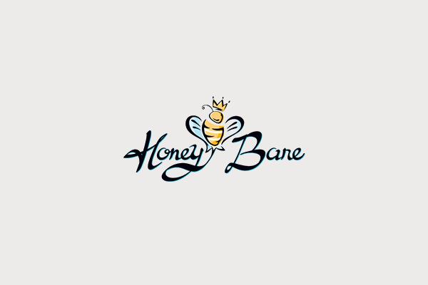 honeybare cheesecakes bar logo