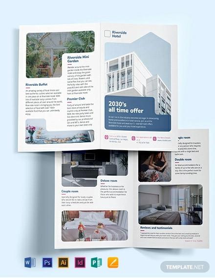 hotel bi fold brochure template1